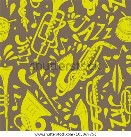 seamless pattern jazz