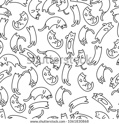seamless pattern lazy cat