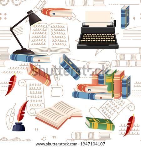seamless pattern literature
