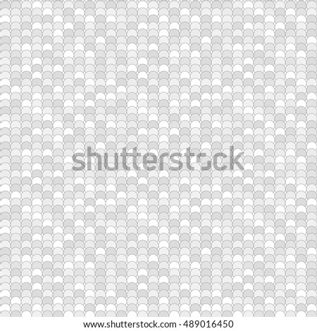 Seamless pattern made of greyscale overlay circles with decent black outline