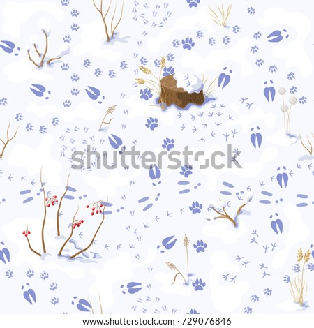 seamless pattern made with snow