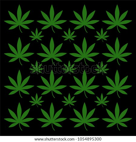 seamless pattern marijuana