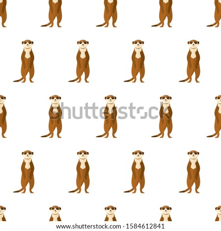 seamless pattern meerkat animal