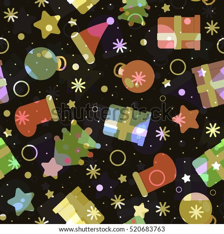 seamless pattern merry