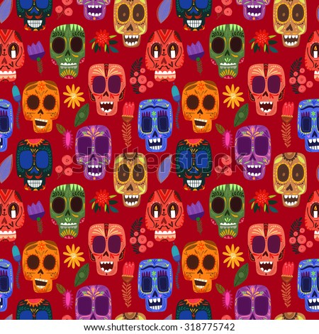 seamless pattern mexican day of
