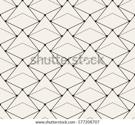 Seamless Pattern - modern abstract vector design - repeating geometric elements