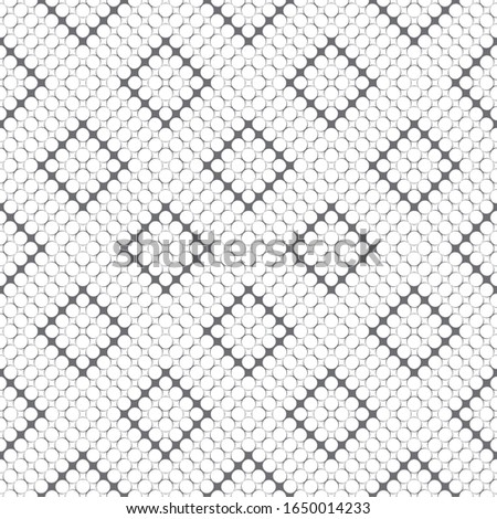 Seamless pattern. Modern stylish texture. Infinitely repeating geometrical texture with small rhombuses and circles which form contemporary ornament with diamond and rhombus shapes.