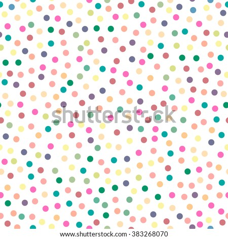 Seamless pattern. Multi-colored circles on a white background. Texture. Vector