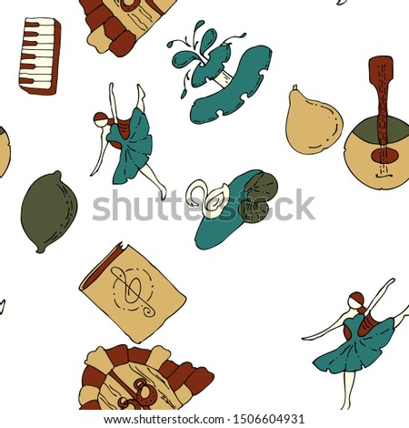 seamless pattern musical