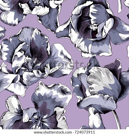 seamless pattern of a blue gray