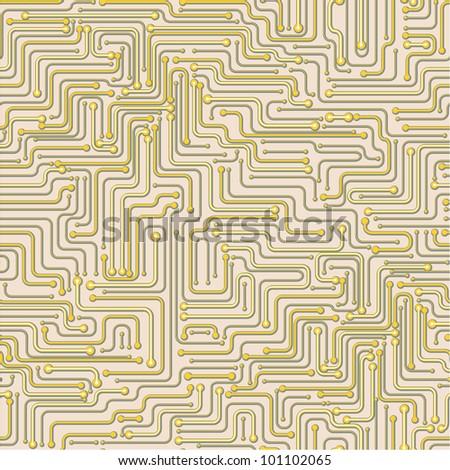 Seamless pattern of a circuit board design