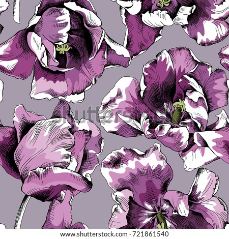 seamless pattern of a violet