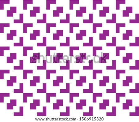 Seamless pattern of angled angles with overlapping square shapes in the middle. Geometric monochrome abstract backgrounds suitable for fabric and tile motifs.