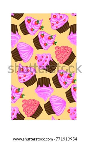 seamless pattern of appetizing