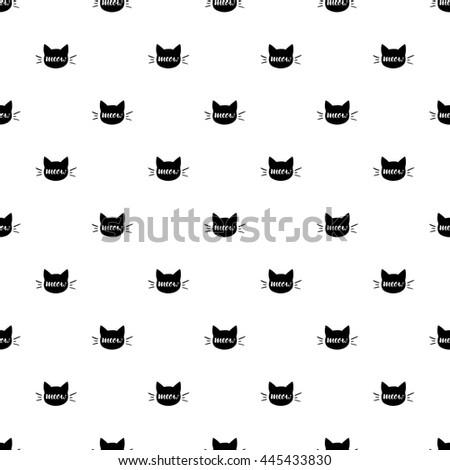 seamless pattern of black heads