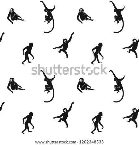 seamless pattern of black small