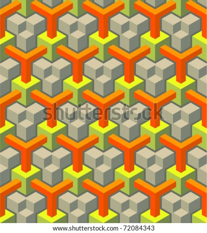 Seamless pattern of blocks