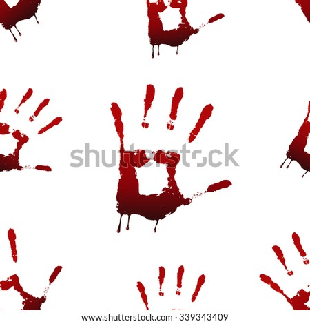 seamless pattern of bloody