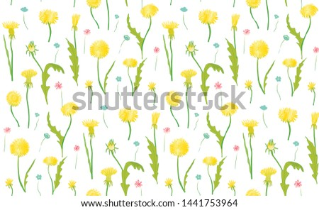 seamless pattern of blooming