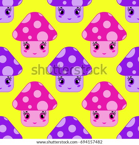 seamless pattern of cartoon