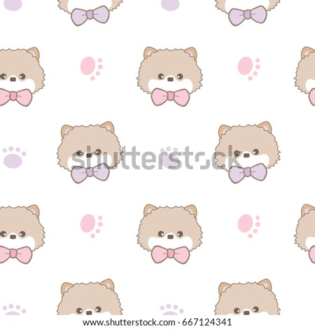 seamless pattern of cartoon