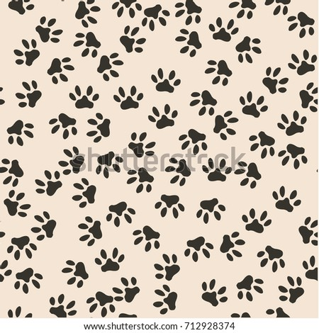 seamless pattern of cat