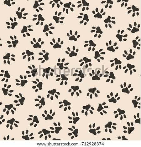 seamless pattern of cat