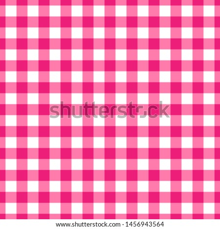 Seamless pattern of checkered kitchen tablecloth Photo stock ©