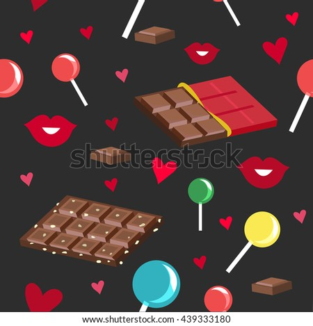 seamless pattern of chocolate