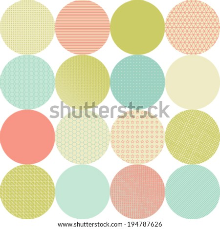 seamless pattern of circles