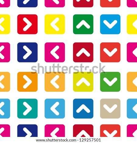 Seamless pattern of colored arrows