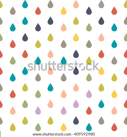 seamless pattern of colored dew