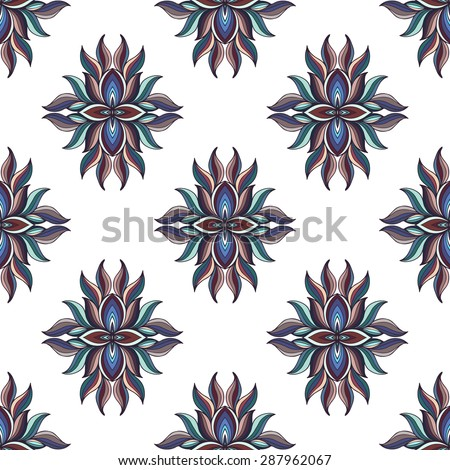seamless pattern of colorful