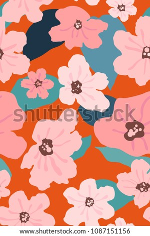 seamless pattern of cordia
