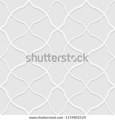 Seamless pattern of curves lines. Unusual lattice. Geometric background. Vector illustration. Good quality. Good design.