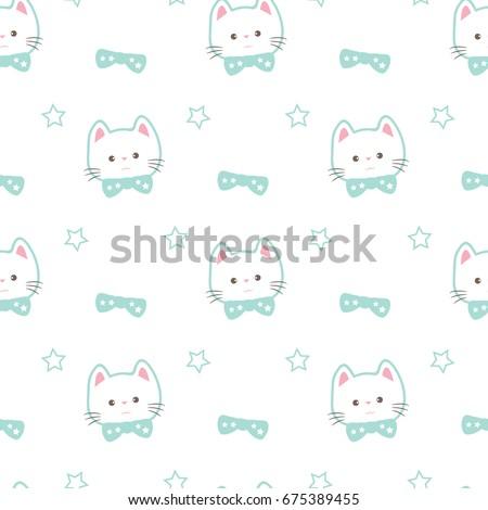 seamless pattern of cute