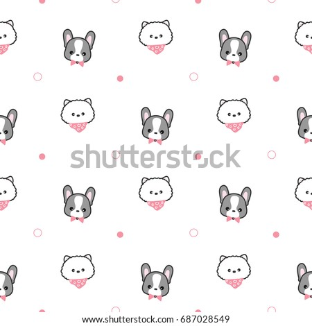 seamless pattern of cute