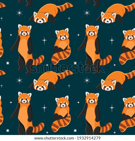 seamless pattern of cute red