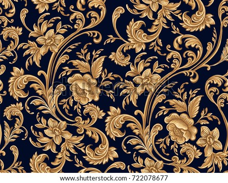 seamless pattern of decorative