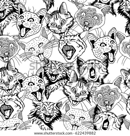 seamless pattern of different
