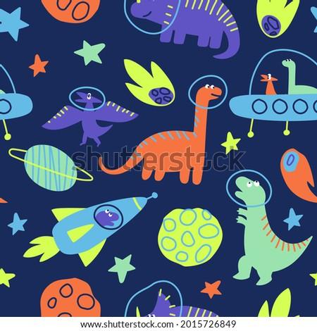 seamless pattern of dinosaurs