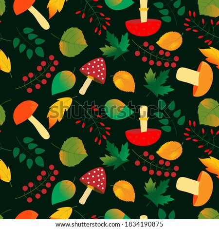 seamless pattern of edible and