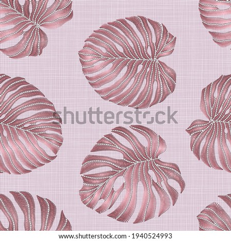 seamless pattern of embroidered