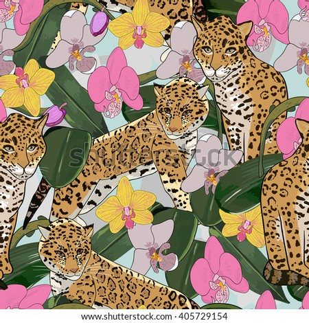 seamless pattern of exotic
