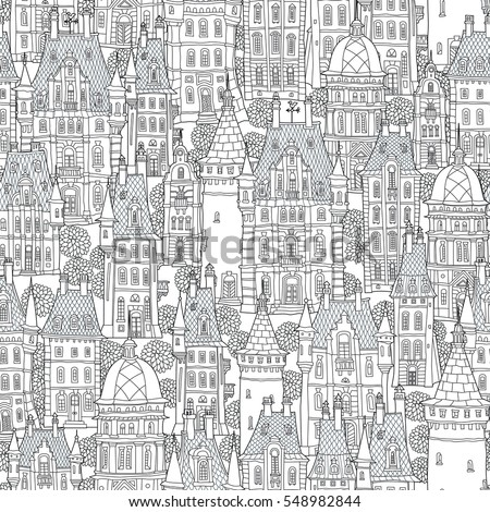 seamless pattern of fantasy