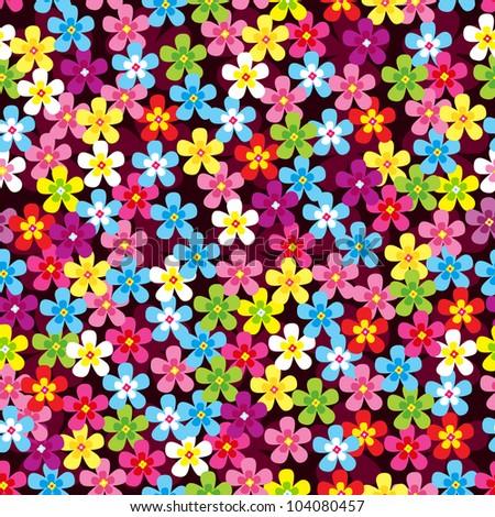 Seamless pattern of flower