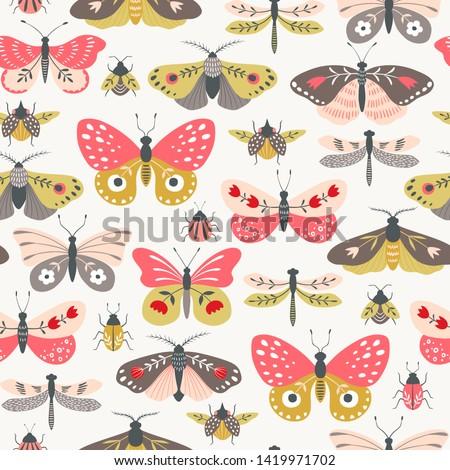 seamless pattern of folk