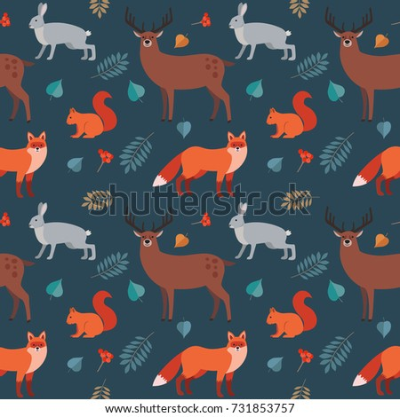 seamless pattern of forest