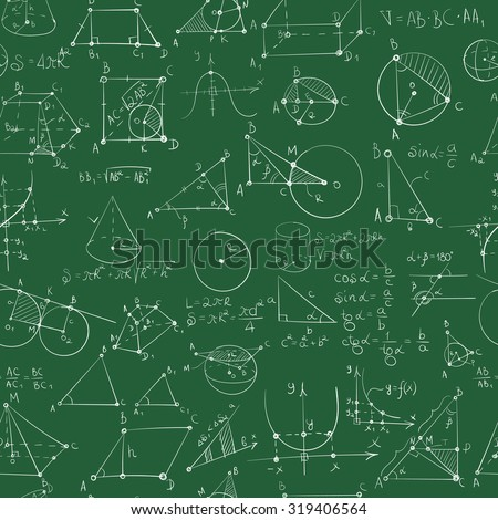 seamless pattern of formulas