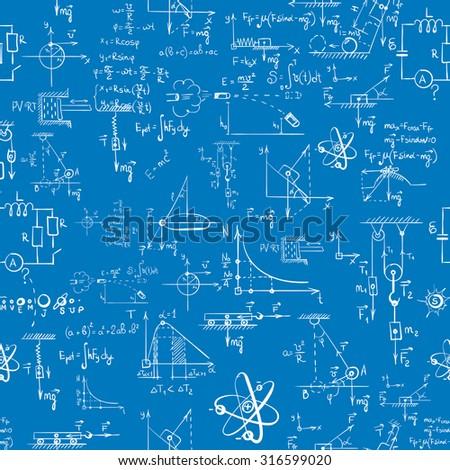 seamless pattern of formulas